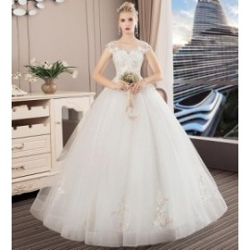 韓国 ファッション 高品質 花嫁ウェディングドレス 二次会 結婚式 披露宴 パーティードレス ステージドレス 撮影 ホワイト 白