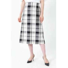 【ナチュラルビューティー/NATURAL BEAUTY】 ◆[WEB限定商品]ビッグチェックロングタイトスカート