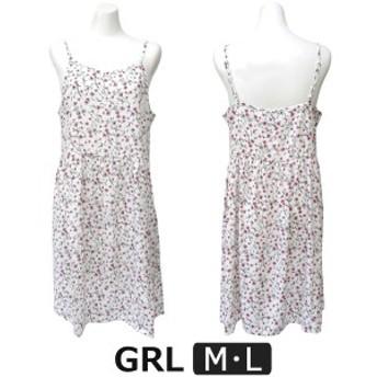 レディース 花柄 キャミソール ワンピース M L オフホワイト SF13 GRL グレイル 女性 婦人 キャミ ワンピ スカート 白 2k5