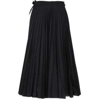 《セール開催中》VALENTINO レディース 7分丈スカート ブラック 40 コットン 54% / ポリエステル 46%