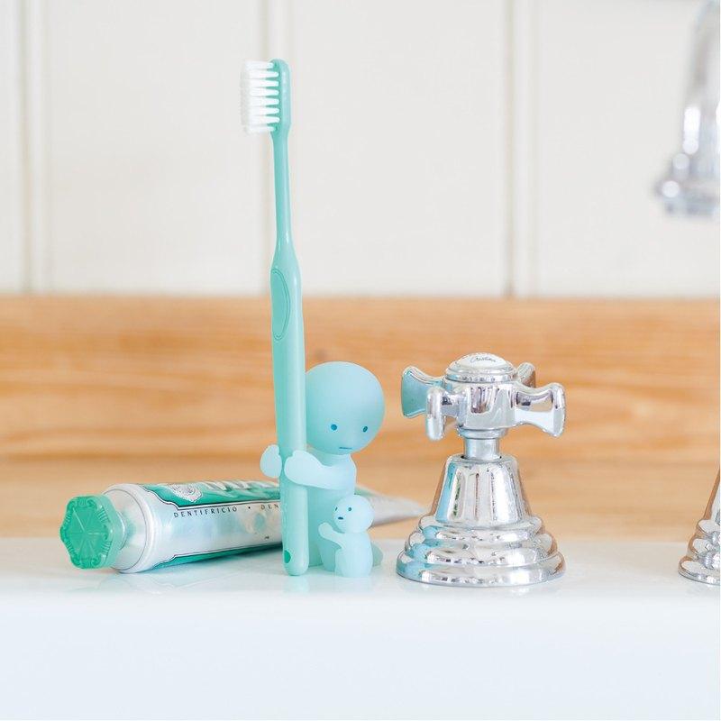 Smiski│不可思議的夜光精靈 療癒牙刷架(為母則強)