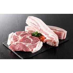 山形県産豚2種盛り約1800gと厚切り牛タン約300g