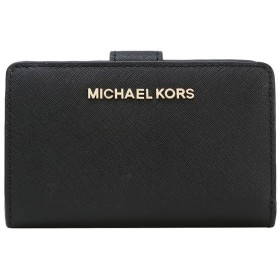 【クーポン適用でさらにお得!】マイケルコース 二つ折り財布 レディース MICHAEL KORS 35F7GTVF2L BLACK アウトレット