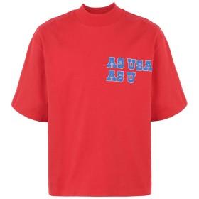 《セール開催中》REEBOK x PYER MOSS メンズ T シャツ レッド S コットン 100% RCxPM Logo T-Shirt