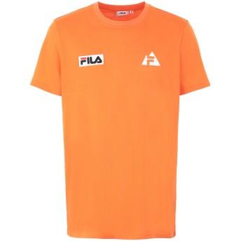 《セール開催中》FILA HERITAGE メンズ T シャツ オレンジ L ポリエステル 65% / コットン 35% MEN HOYT tee