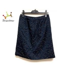 ジユウク 自由区/jiyuku スカート サイズ40 M レディース 美品 ネイビー×ブラウン 豹柄  値下げ 20200121