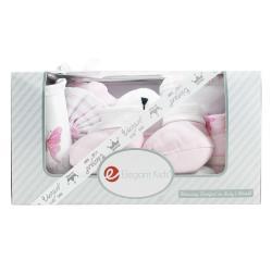 美國Elegant kids彌月禮盒-粉色小熊沐浴7件式禮盒