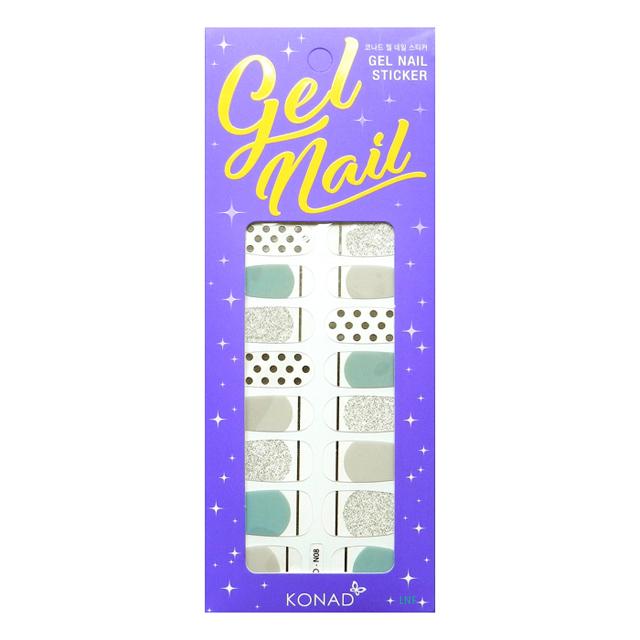 Konad凝膠指甲貼-8 Sensitive Mono Gray