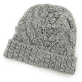 [マルイ]【セール】ポコポコアラン編みニット帽/ハッシュアッシュ(レディス)(HusHusH Ladies)