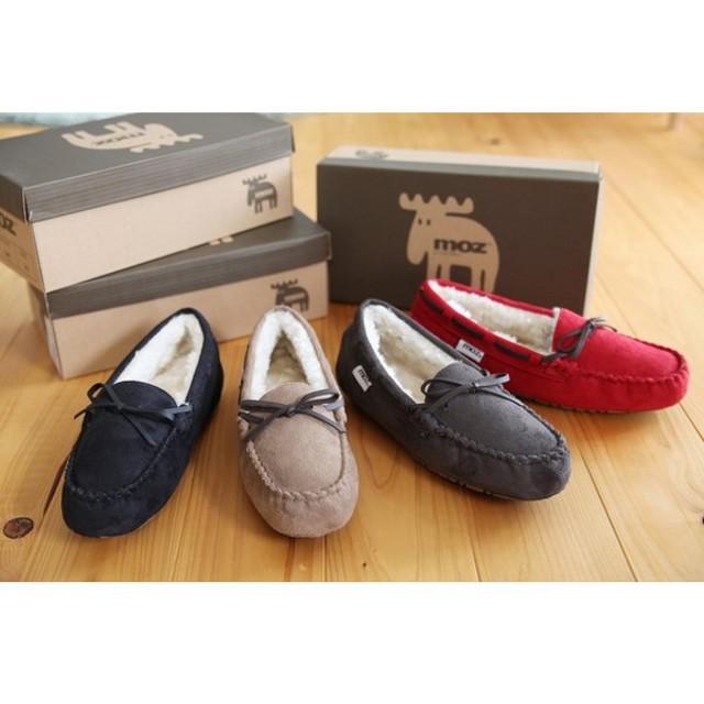 MOZ モズリボン付きモカシン 婦人靴 レディース MOZ9314