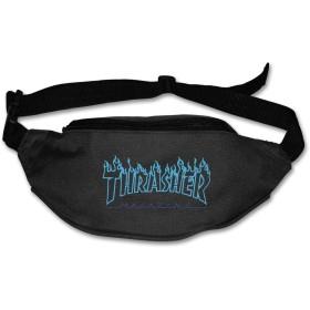 NA Thrasher Logo ウエストバッグ ウエストポーチ ヒップバック メンズ レディース 多機能 アウトドア ファッション 最新の 防水 超軽量 調節可能 超大収納 登山 大容量
