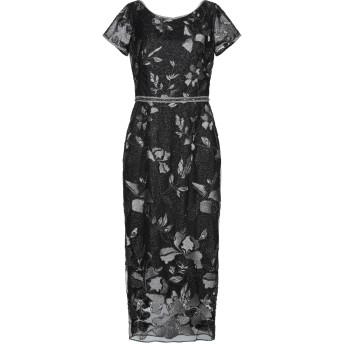 《セール開催中》MARCHESA NOTTE レディース 7分丈ワンピース・ドレス ブラック 6 ポリエステル 100% / 金属