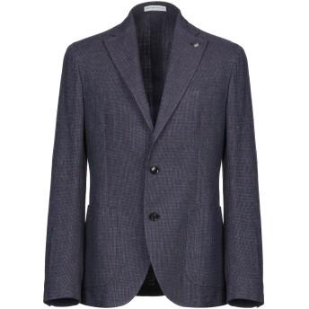 《セール開催中》SARTORIA LATORRE メンズ テーラードジャケット ダークパープル 50 コットン 95% / 麻 5%