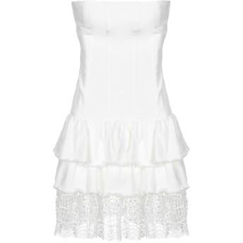《セール開催中》LIU JO レディース ミニワンピース&ドレス ホワイト 42 コットン 98% / ポリウレタン 2% / ポリエステル