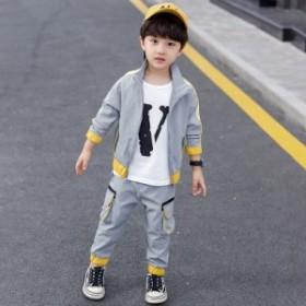 男の子用カジュアルスーツ2019春秋季の新型洋風ファッションの中で大童韓版ファッションの二点セット