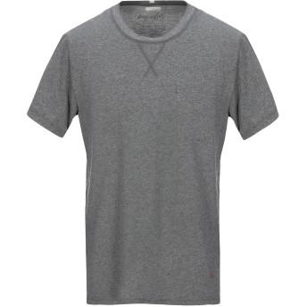《セール開催中》(+) PEOPLE メンズ T シャツ グレー XL コットン 100%