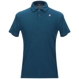 《セール開催中》K-WAY メンズ ポロシャツ ブルーグレー S コットン 70% / 麻 30%