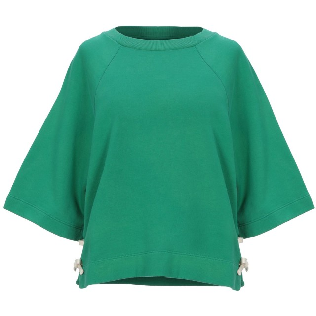 《セール開催中》MAURO GRIFONI レディース スウェットシャツ グリーン S コットン 100%