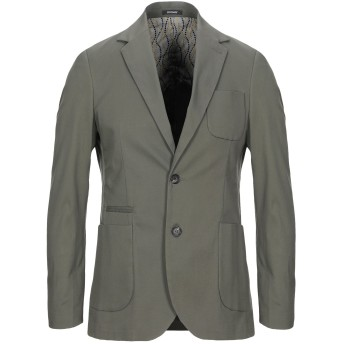 《セール開催中》OFFICINA 36 メンズ テーラードジャケット ミリタリーグリーン 48 コットン 98% / ポリウレタン 2%