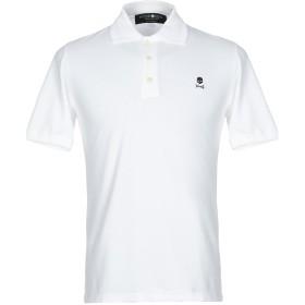 《セール開催中》HYDROGEN メンズ ポロシャツ ホワイト XS コットン 100%