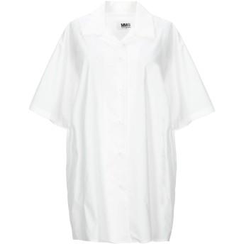《セール開催中》MM6 MAISON MARGIELA レディース シャツ ホワイト 40 コットン 65% / ポリエステル 35%