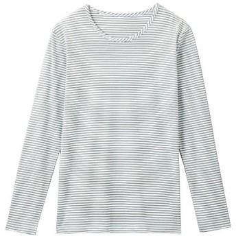 【レディース】 着ごこち良い綿混クルーネックT ■カラー:オフホワイト ■サイズ:L,LL,3L,M
