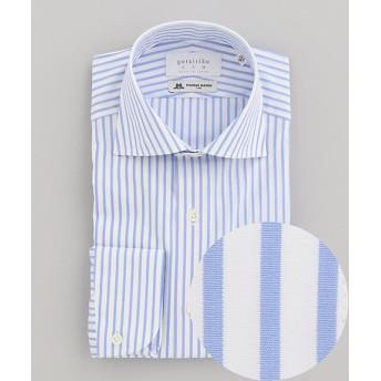 【SALE(三越)】<五大陸/gotairiku> ドレスシャツ / ブルーストライプ(HDGOKW0205) サックス【三越・伊勢丹/公式】