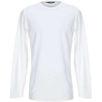 《セール開催中》DANIELE ALESSANDRINI メンズ スウェットシャツ アイボリー M コットン 66% / ポリエステル 34%