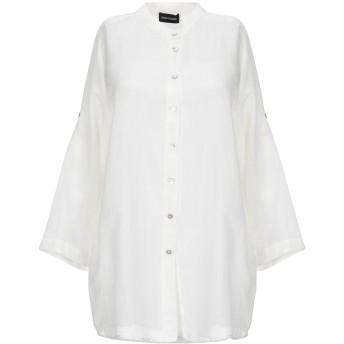 《セール開催中》DIANA GALLESI レディース シャツ ホワイト 44 コットン 70% / シルク 30%