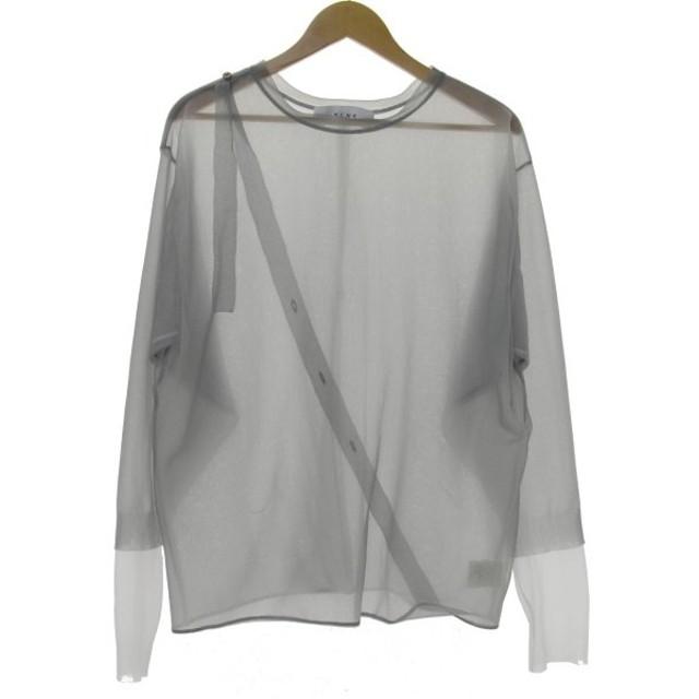IRENE 19SS transparent knit tops カットソー グレー サイズ:36 (堀江店) 191031