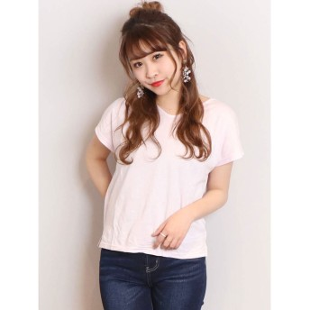dazzlin basic Vneck B-ribon Tシャツ(ピンク)