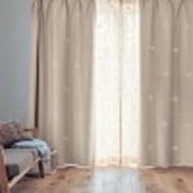 光でモチーフが浮かび上がる遮熱カーテン「ミッキーモチーフ」
