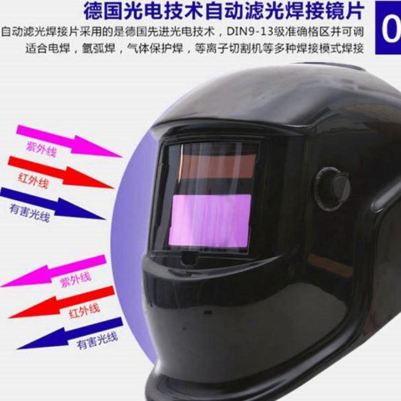 電焊面具 自動變光電焊面罩焊帽接頭戴式氬弧燒焊工機面具帽子防護烤臉全盔 MKS