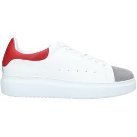 《セール開催中》QUATTROBARRADODICI メンズ スニーカー&テニスシューズ(ローカット) ホワイト 40 革