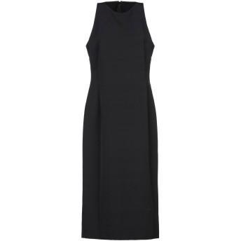《セール開催中》MANILA GRACE レディース 7分丈ワンピース・ドレス ブラック 38 ポリエステル 90% / ポリウレタン 10%