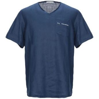 《セール開催中》GREY DANIELE ALESSANDRINI メンズ T シャツ ブルー S 麻 100%