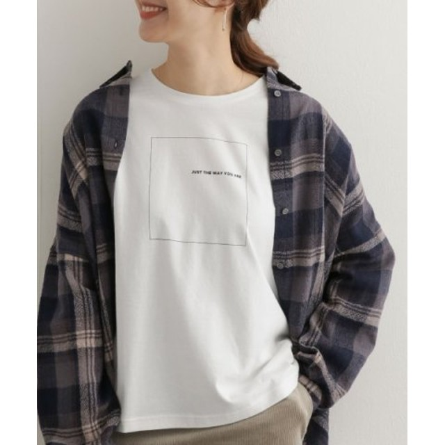 (URBAN RESEARCH DOORS/アーバンリサーチドアーズ)スクエアプリントTシャツ/レディース WHITE