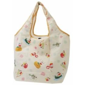 クレヨンしんちゃん エコバッグ 折りたたみ くるくる ショッピングバッグ 水彩 45×60×15cm アニメキャラクター グッズ メール便可