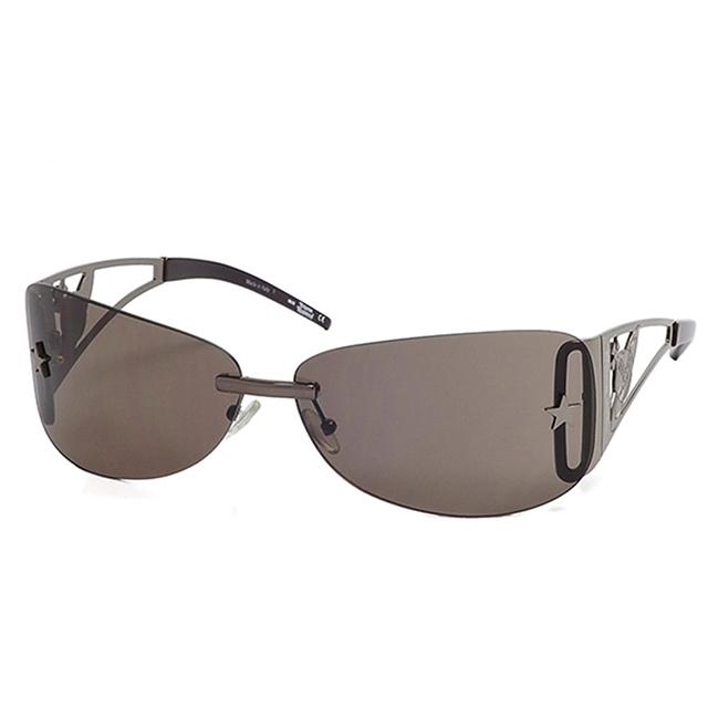 【Vivienne Westwood】英國精品時尚類運動星星無邊框系列造型太陽眼鏡(VW59203-咖)