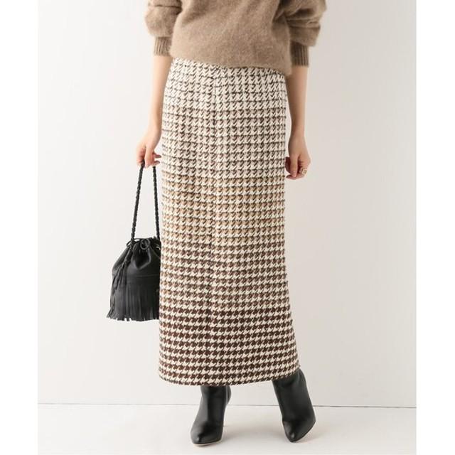 IENA LINTONグラデーションロングスカート キャメル 38