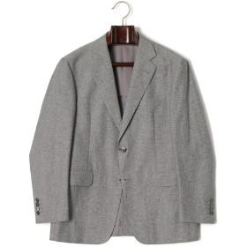 【79%OFF】ノッチドラペル テーラードジャケット グレー ab6