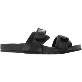 《セール開催中》PRADA メンズ サンダル ブラック 7 革 / ゴム / 紡績繊維