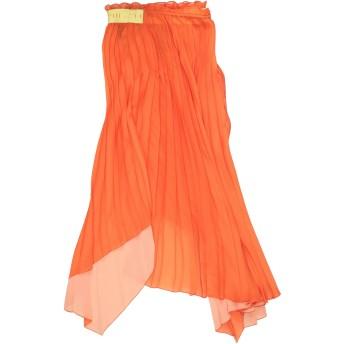 《セール開催中》BEN TAVERNITI UNRAVEL PROJECT レディース ひざ丈スカート オレンジ XS ポリエステル 100% / ポリウレタン