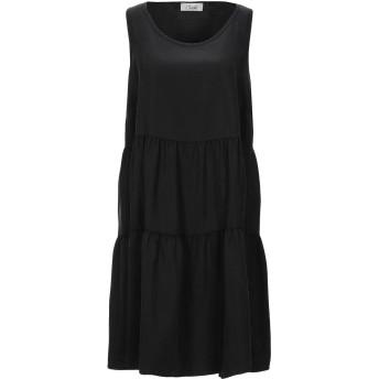 《セール開催中》CROCH レディース ミニワンピース&ドレス ブラック L テンセル 100%