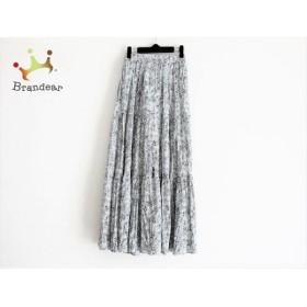 アングリッド UNGRID ロングスカート サイズF レディース 黒×白 花柄 新着 20191030