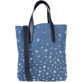 《セール開催中》JIMMY CHOO レディース ハンドバッグ ブルー 紡績繊維 / 革