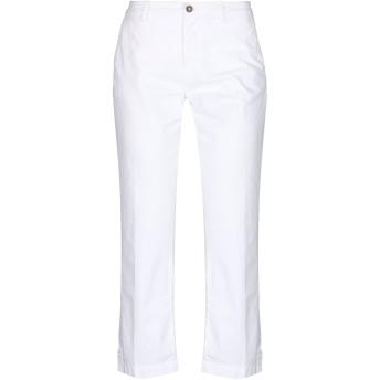 《セール開催中》ALPHA STUDIO レディース パンツ ホワイト 40 コットン 100%