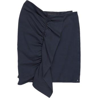《セール開催中》SPORTMAX CODE レディース ひざ丈スカート ダークブルー 42 コットン 100%