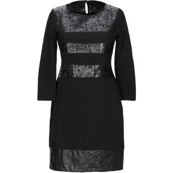 《セール開催中》PAOLA FRANI レディース ミニワンピース&ドレス ブラック 38 ポリエステル 78% / ポリウレタン 22%