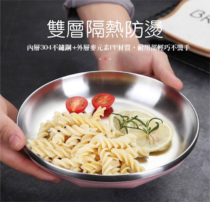 [現貨]304不銹鋼 密封湯碗 保溫便當盒 學生餐盒成人分格快餐盤 304不鏽鋼雙層隔熱餐盤